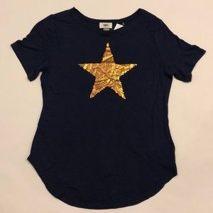 NEW W/ TAGS - Old Navy tee in Navy with Gold Star